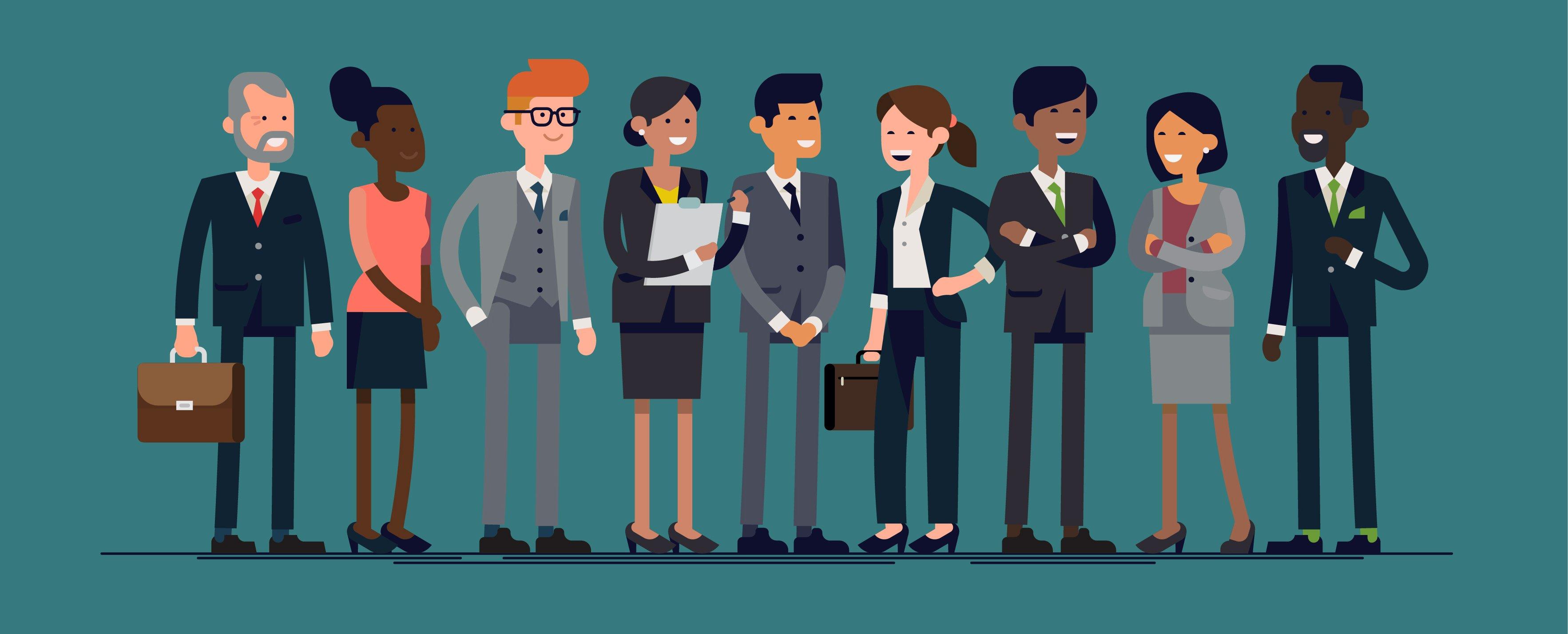 empleados de una empresa - ilustración